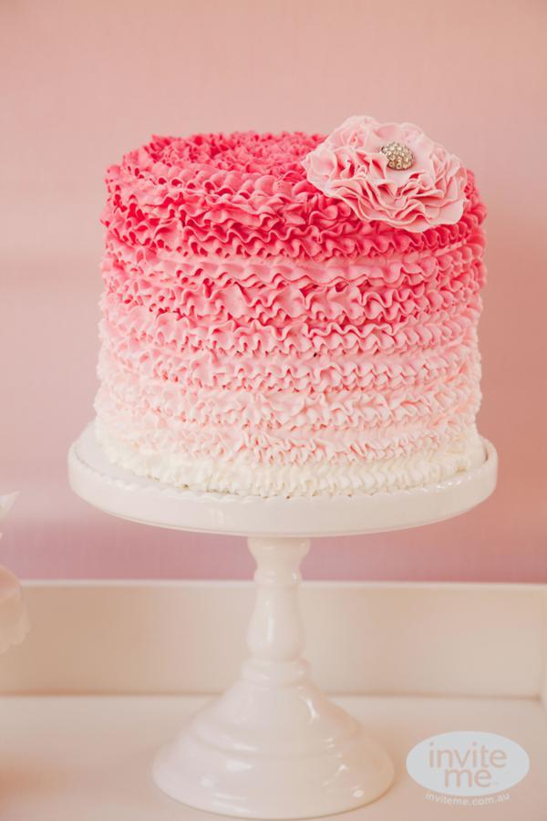 Tarta rosa bailarina