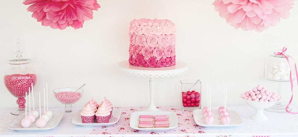 Mesa dulce rosa
