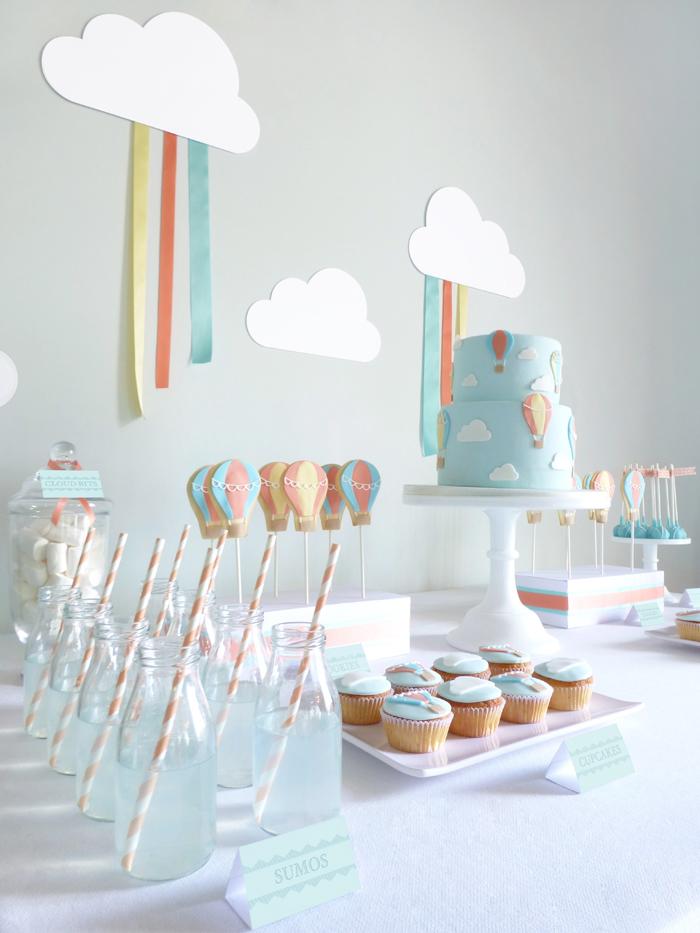 mesa dulce en el aire globos aerost ticos fiesta dulce. Black Bedroom Furniture Sets. Home Design Ideas